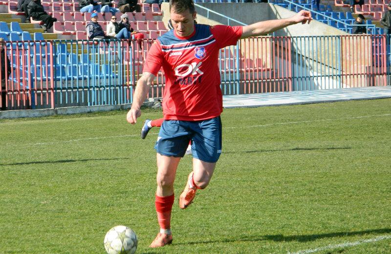 Cristi Bud a marcat de cinci ori în retur pentru FC Bihor, dedicînd de fiecare dată golurile fiului său // Foto: Carmen Ilie (Oradea)