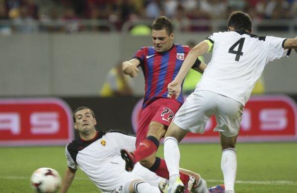 Adi Popa a făcut un meci excelent aseară, dar barele i-au refuzat de două ori bucuria golului Foto: rpressport.ro