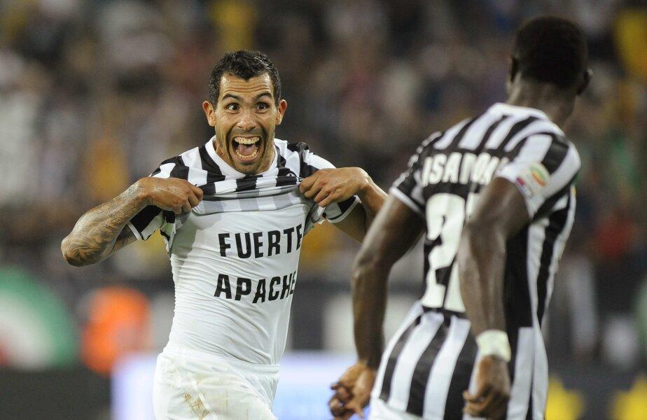 Tevez, fericit după golul marcat lui Lazio