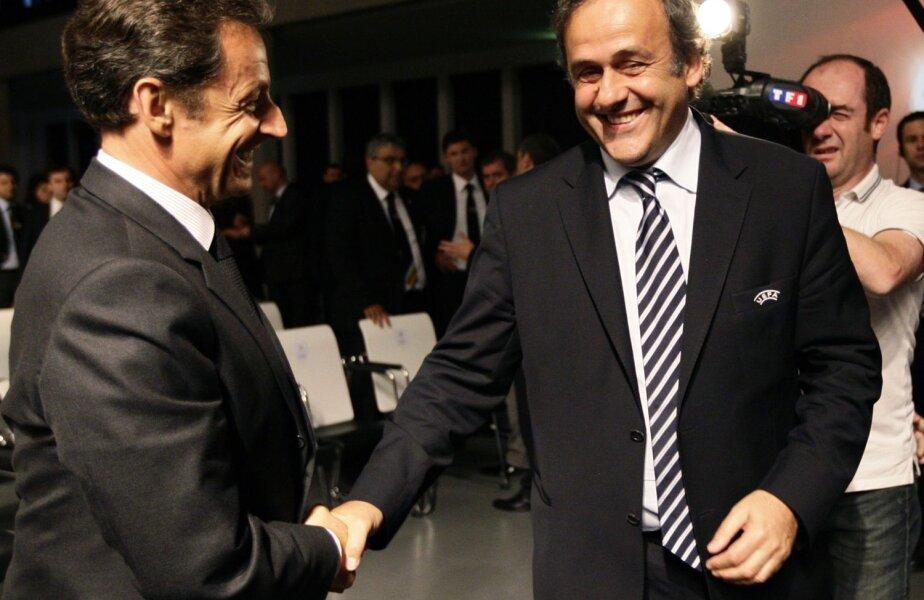 Tot cuplul Platini (dreapta) - Sarkozy a decis în mai 2010 ca Franţa să găzduiască Euro 2016 // Foto: Reuters