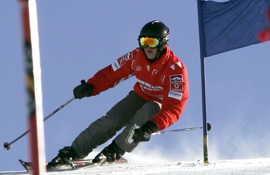 Michael Schumacher şi-a filmat coborîrea pe pîrtie cu ajutorul unei minicamere video montată pe cască