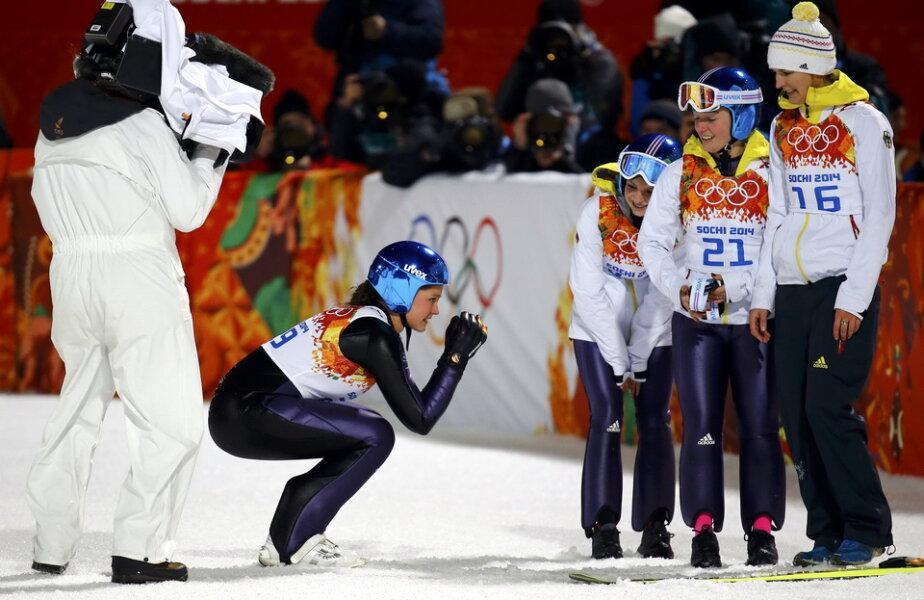 Carina Vogt a luat aurul olimpic la Soci f: Reuters