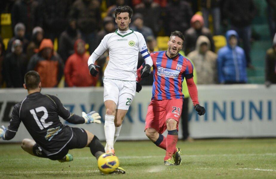 Piovaccari e golgeterul Stelei, cu 7 reușite în Liga 1 // Foto: Alex Nicodim