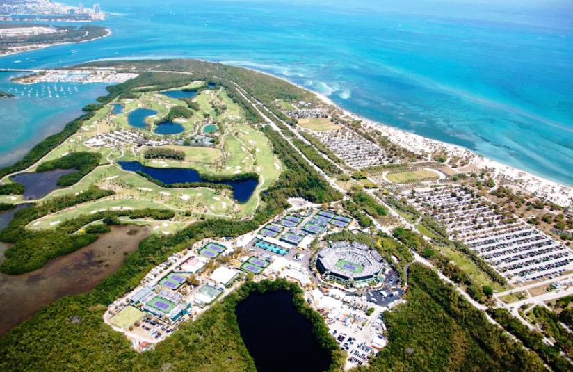 Așa arată de sus complexul și parcul unde se joacă turneul // Foto: floridaphoto.com