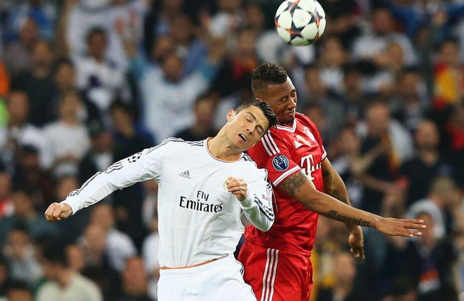 Ronaldo, aici într-un duel aerian cu Boateng, a jucat 73 de minute contra lui Bayern // Foto: Guliver/GettyImages