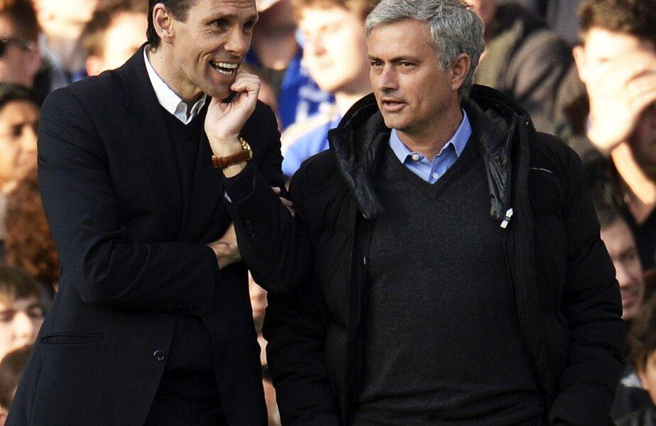 Jose Mourinho și Gus Poyet, antrenorul lui Sunderland, foto: reuters