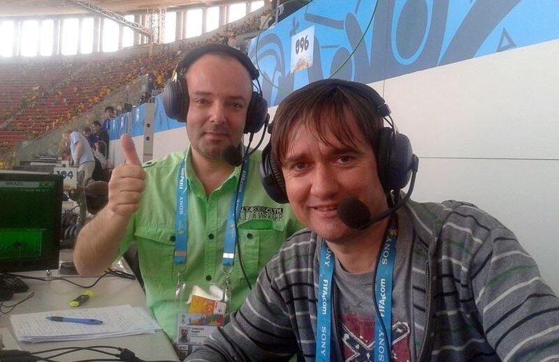 Bogdan Tomulică (stînga) și Florin Mihoc