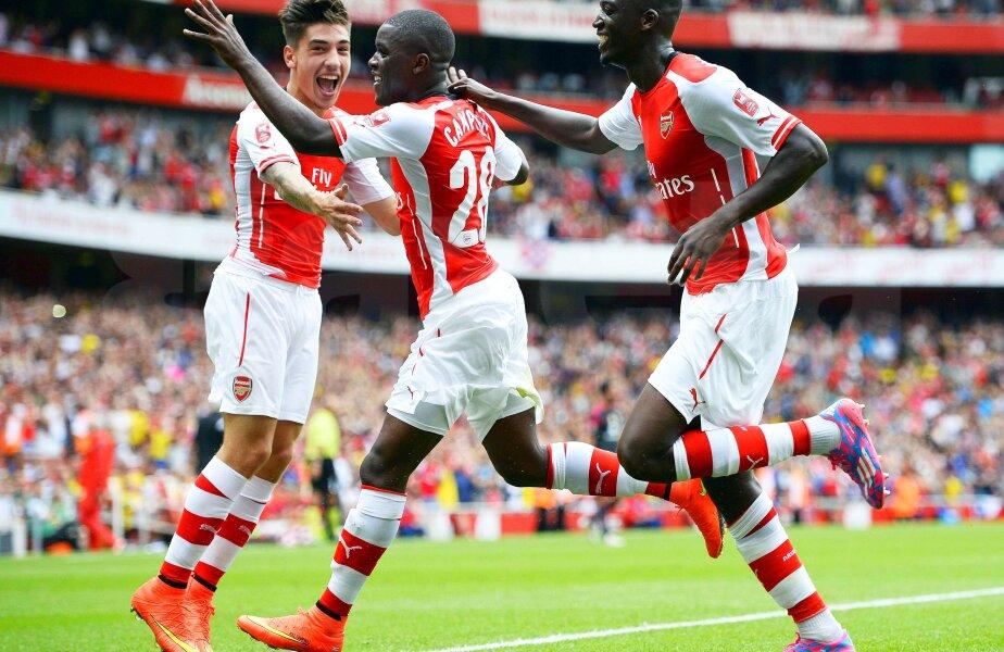 Nici un gol nu marcase Sanogo de cînd a venit la Arsenal pînă la meciul de aseară, foto: Reuters