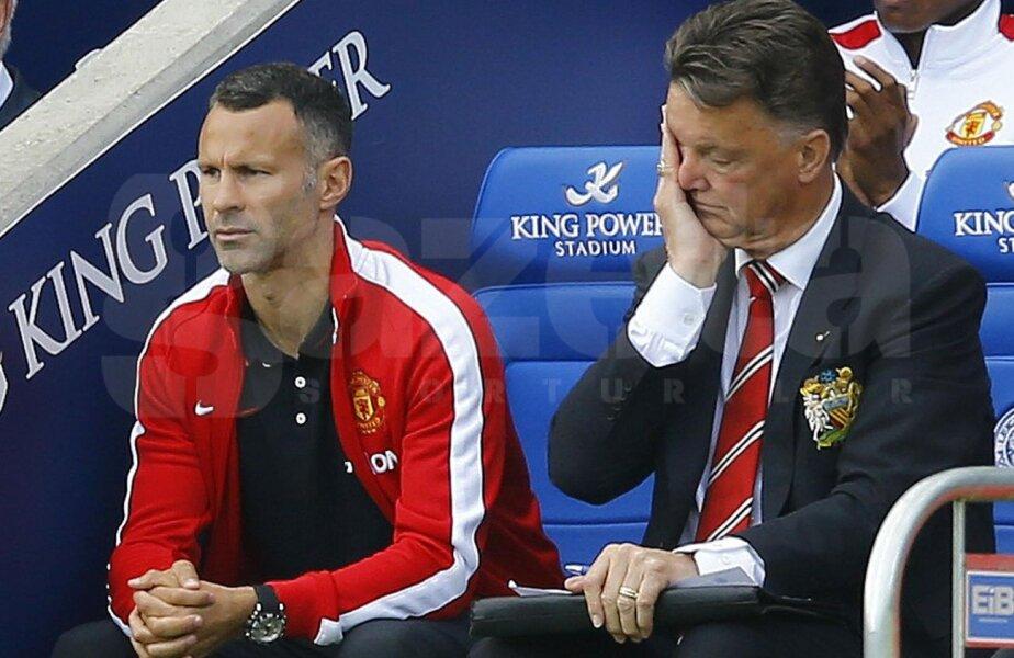 Giggs e împietrit, lui Van Gaal nu-i vine să-și creadă ochilor. United a pierdut cu 5-3