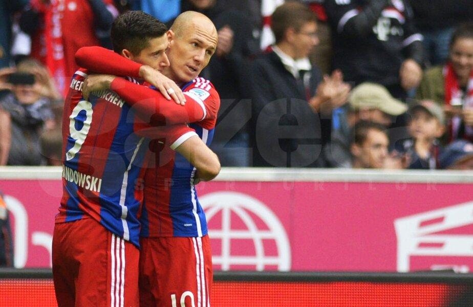 Robert Lewandowski și Arjen Robben, foto: reuters
