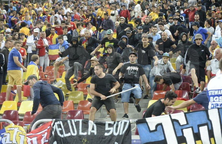 Fanii români au provocat scandal la partida cu Ungaria de toamna trecută