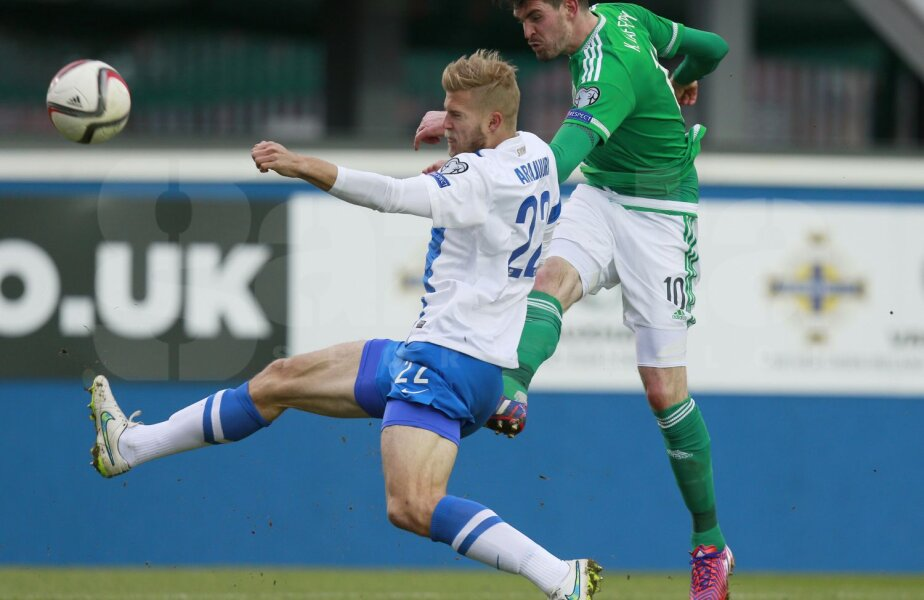 Lafferty (în verde) e împrumutat acum de Norwich la Rizespor, în prima ligă turcă // Foto: Reuters
