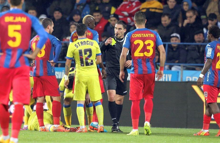 Istvan Kovacs a greșit flagrant împotriva Stelei la meciul direct cu ASA