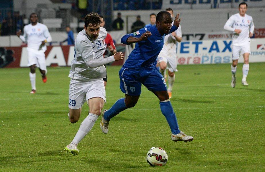 Batin a marcat aseară al 5-lea său gol în acest campionat // Foto: Ionuț Tabultoc (Botoșani)