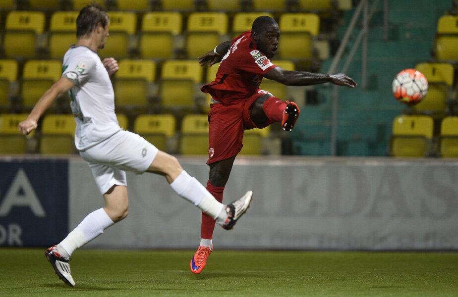 Gnohere și superexecuția de la primul gol din cele două izbutite de el în partida de la Chiajna, cîștigată de dinamoviști cu 3-1