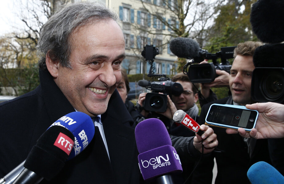 Michel Platini, ieri, la Lausanne // Foto: Reuters