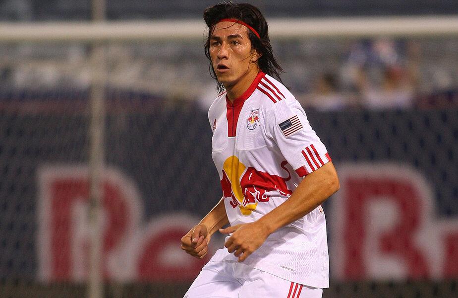 Alfredo Pacheco, în 2009, cînd a fost împrumutat de FAS (El Salvador) la New York Red Bulls, în MLS