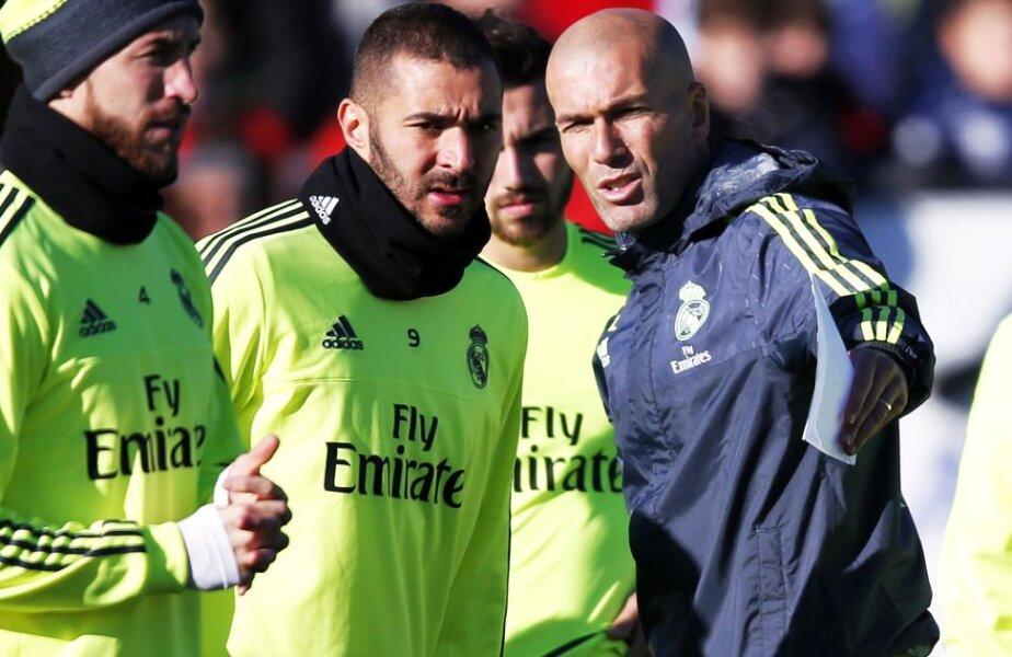 Zizou, la primele antrenamente cu jucătorii lui Real Madrid, foto: reuters
