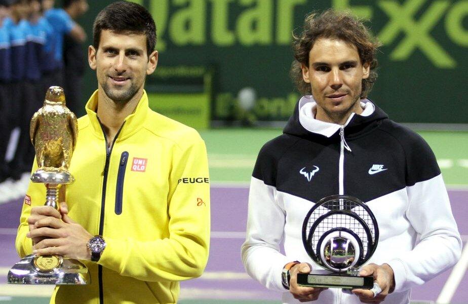 Novak Djokovici l-a desființat pe Rafael Nadal în finala de la Doha, foto: reuters