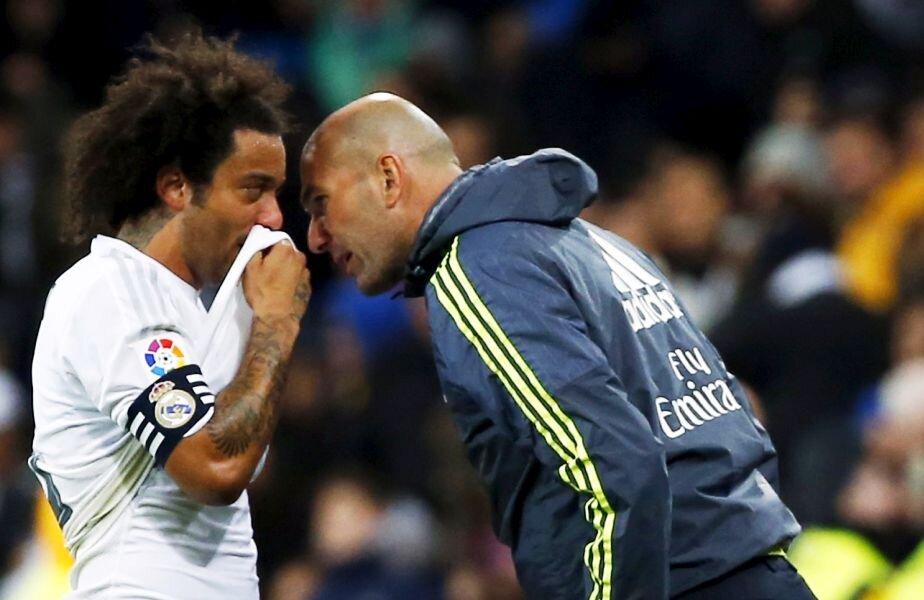 Zinedine Zidane a debutat cu o victorie pe banca Realului, 5-0 cu Deportivo, foto: reuters