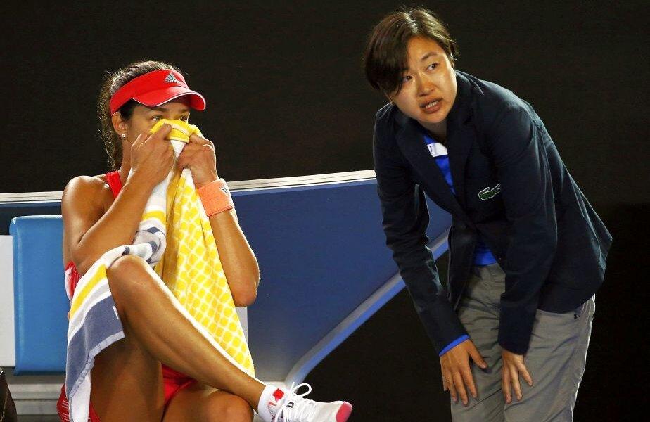 Ana Ivanovici nu vrea să se uite în tribunele de pe Rod Laver Arena, foto: reuters