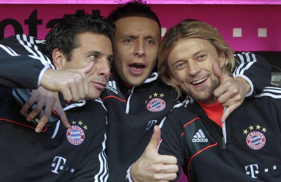 Timoșciuk, dreapta, alături de Pizzaro și Rafinha