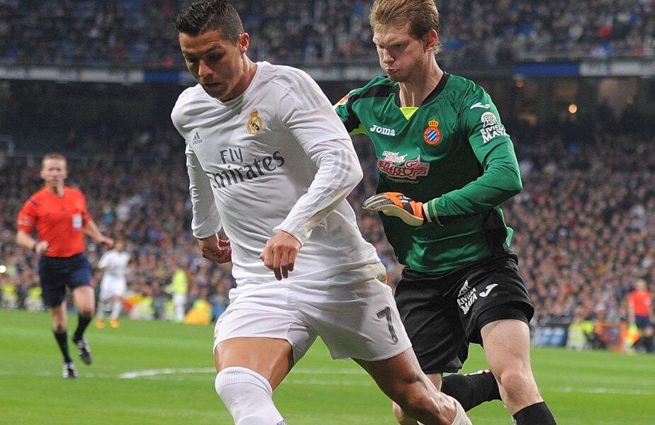 La debutul pentru Espanyol, în etapa trecută, Arla a primit 6 goluri, 3 fiind doar de la Cristiano Ronaldo FOTO: Guliver/GettyImages