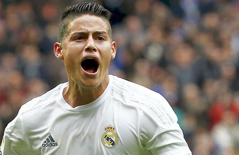 James Rodriguez se bucură pentru cel de-al doilea gol marcat de Real, foto: reuters