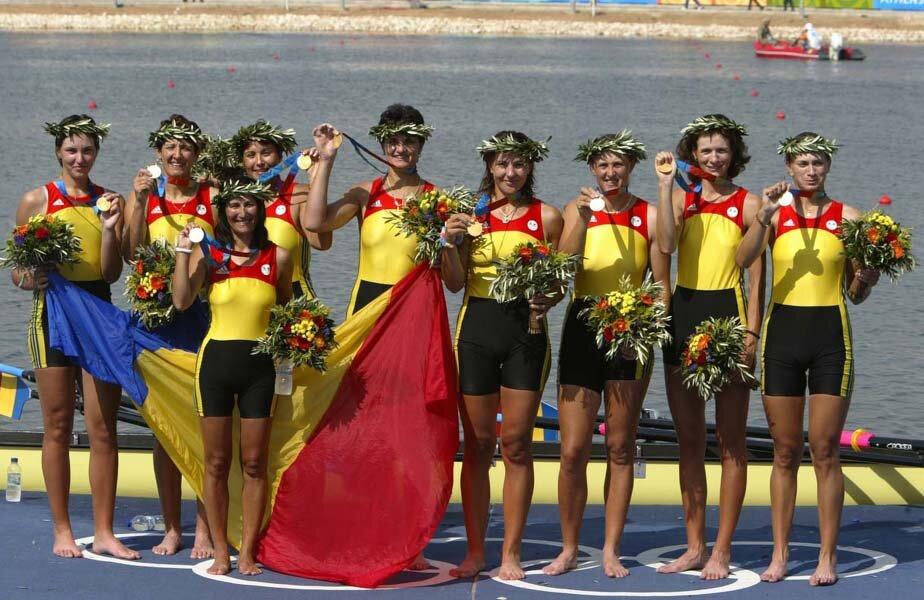 Barca de 8 plus 1 de la Atena, ultima care a câștigat aurul olimpic // FOTO Cristi Preda
