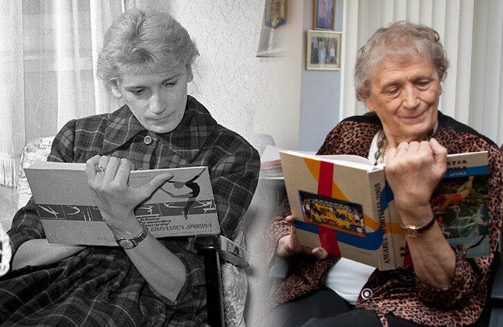 Iolanda Balaș, la 50 de ani distanță. În 1960 (stînga) şi în 2011 (dreapta)
