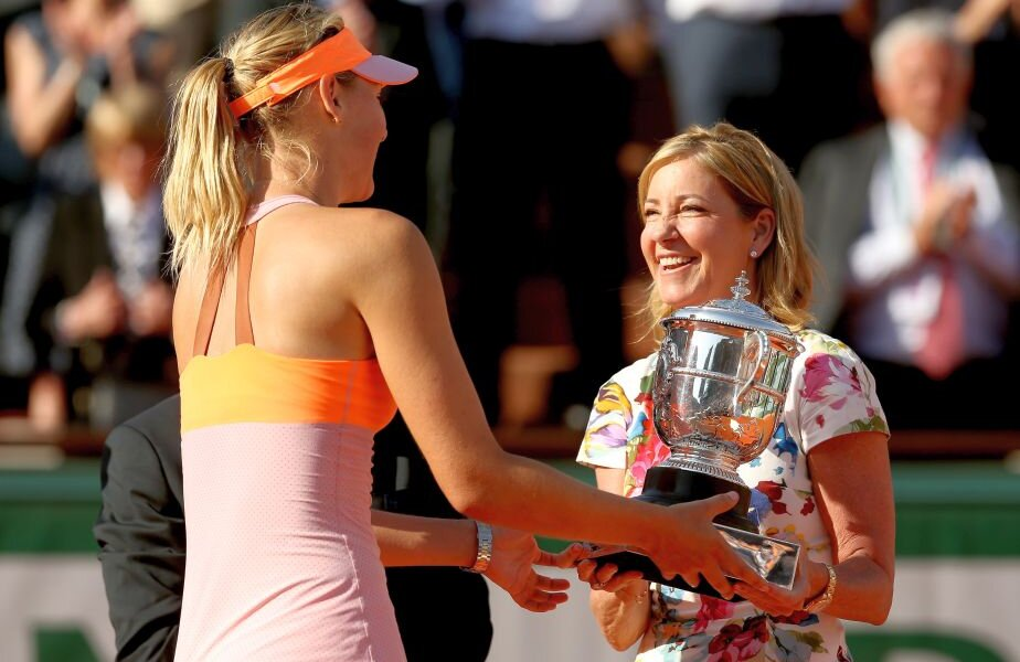 Chris Evert, alături de Maria Șarapova, la finala Roland Garros 2014 // FOTO: Guliver/GettyImages