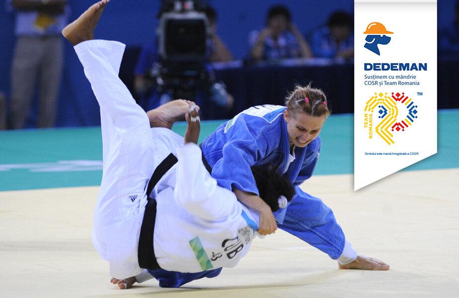 Alina Dumitru era neînfricată pe tatami, aici într-o secvenţă din finala olimpică de la Beijing FOTO Cristi Preda