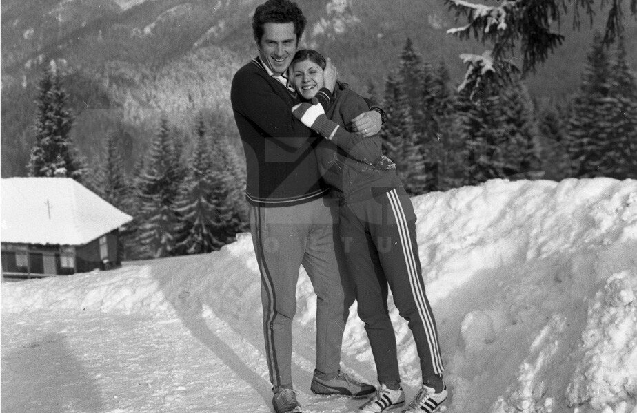 Alături de Natalia Andrei, prima sa soţie // FOTO Arhiva GSP