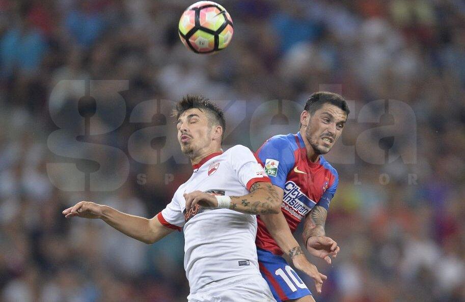 Hanca a fost mai eficient în acest sezon de Liga 1 pentru Dinamo, decât Stanciu pentru Steaua. Primul are până acum trei pase decisive, Nicuşor un gol și nicio pasă // Foto: Raed Krishan