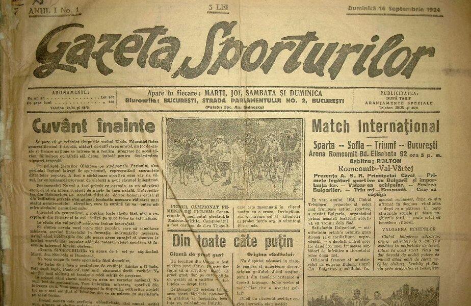 1924. Primul număr