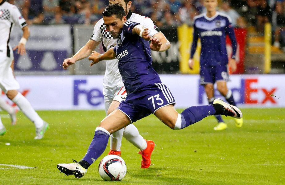Stanciu, numărul 73, pasând decisiv la Anderlecht - Gabala 3-1, în Europa League