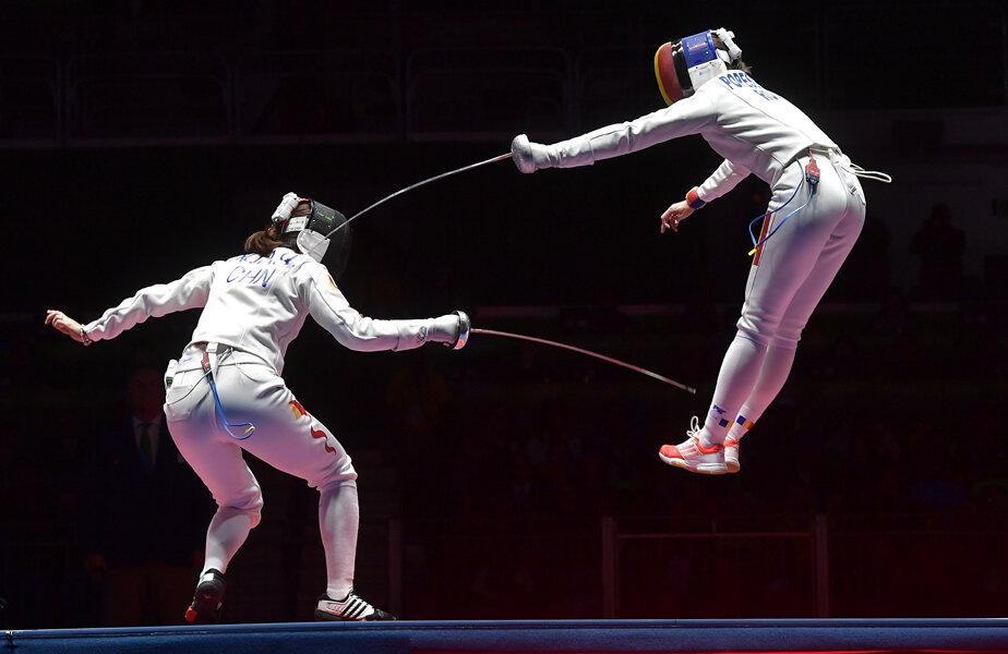 Ana Maria Popescu și tușa sa celebră din finala olimpică disputată contra Chinei // FOTO Cristi Preda
