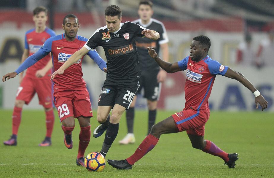 Şi duelul străinilor a fost câştigat net de Dinamo: croatul Palici i-a depăşit de fiecare dată pe brazilianul De Amorim şi congolezul Moke
