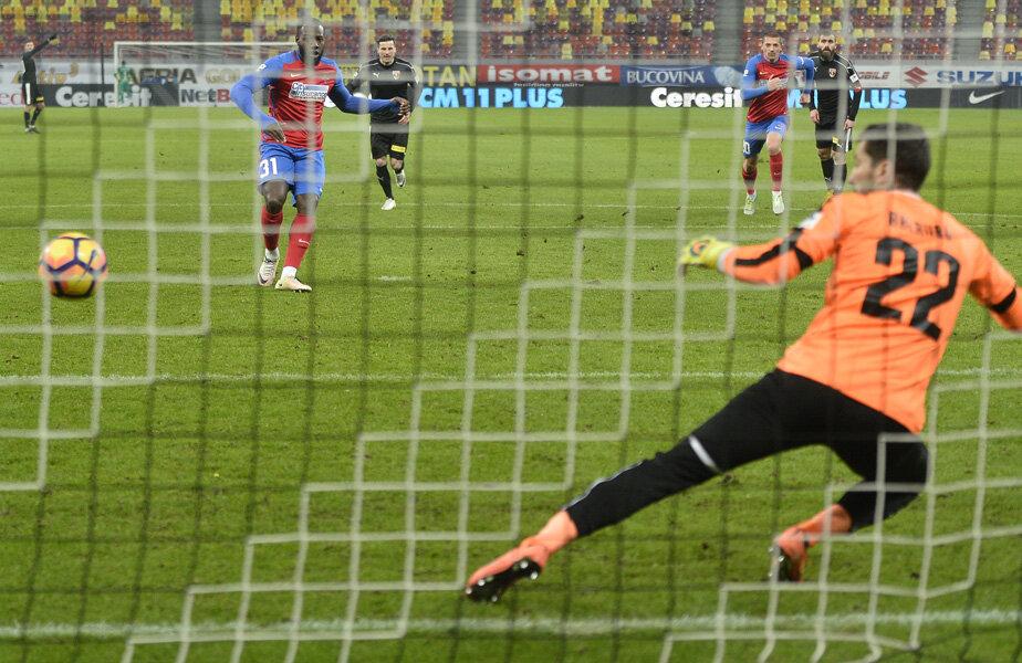 Gnohere, atacantul cumpărat cu 250.000 de euro de la Dinamo a reușit primul gol în tricoul Stelei // Foto Alex Nicodim