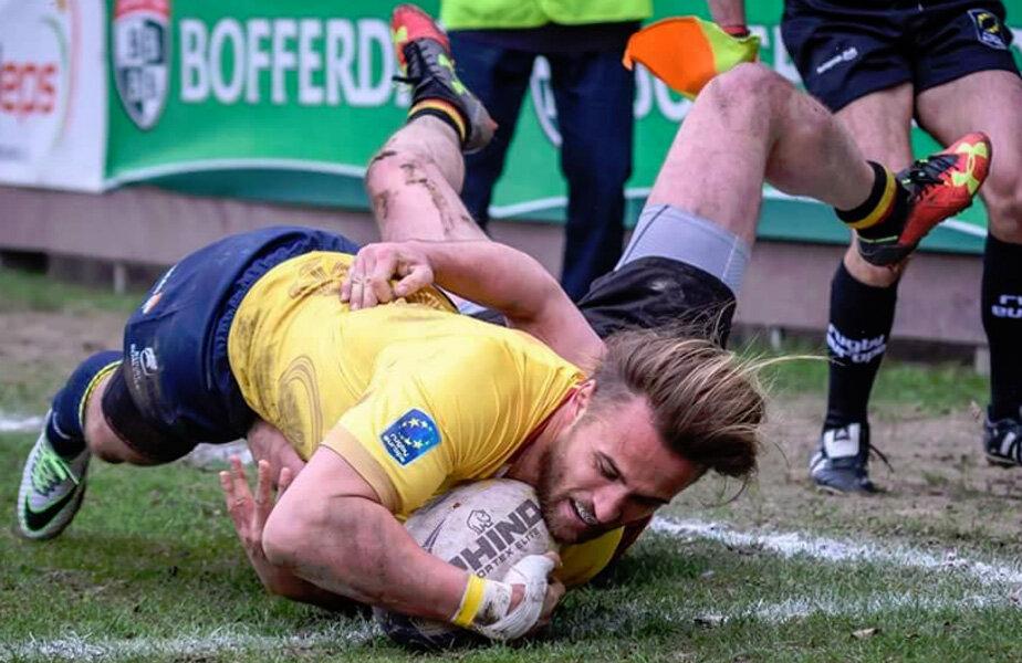 Jack Cobden nu va uita niciodată debutul pentru România, mai ales că a marcat două eseuri // FOTO: Daniel Nechita