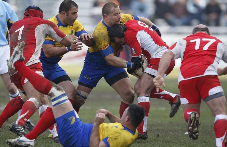 Secvență din ultimul meci victorios al României în fața Georgiei, în martie 2010. Între timp, multe s-au schimbat pentru ambele echipe // FOTO Gazeta Sporturilor
