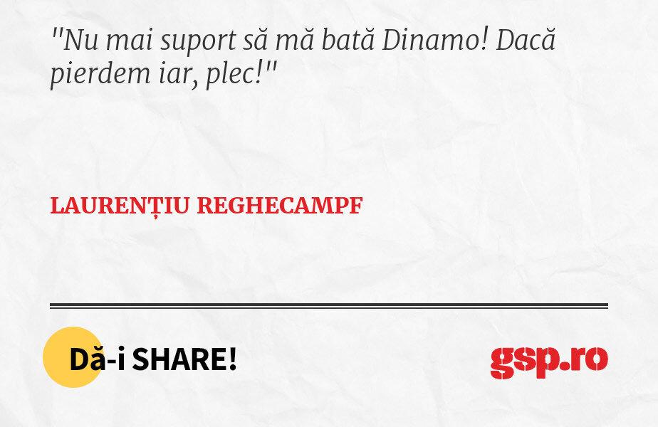 Nu mai suport să mă bată Dinamo! Dacă pierdem iar, plec!