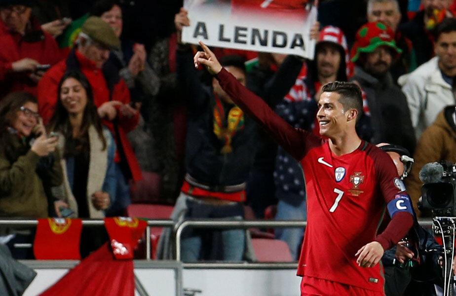 Da! Ronaldo e o legendă // Foto: Reuters