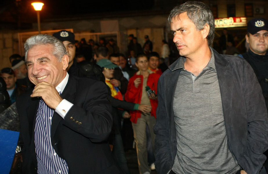 Giovanni şi Mourinho la vizita portughezului din 2008 în România // Foto Cristi Preda