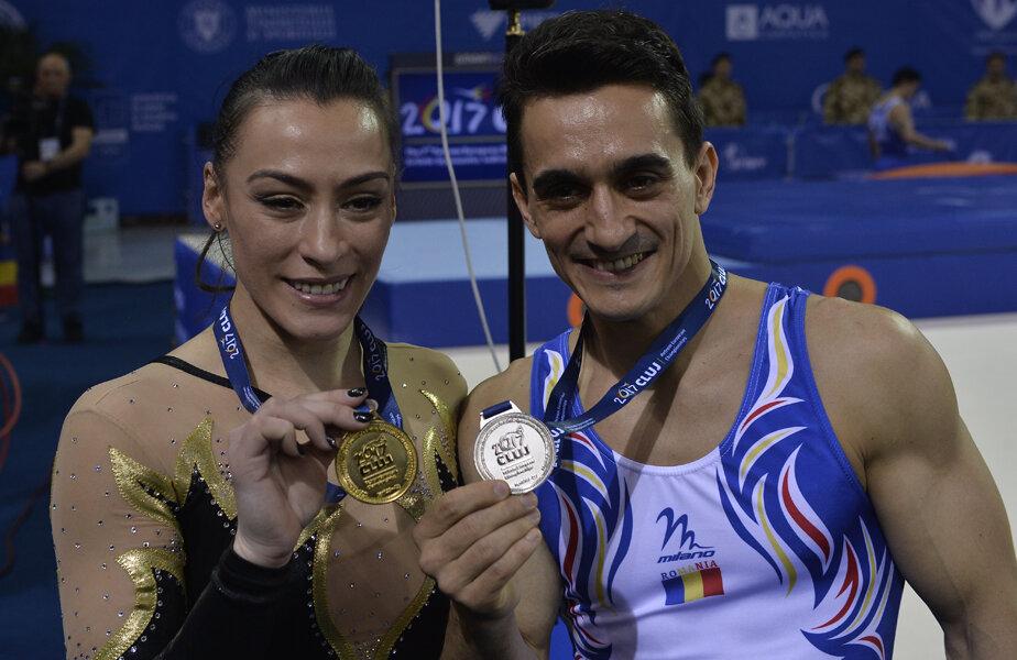 Ponor și Drăgulescu își prezintă medaliile cucerite la Cluj