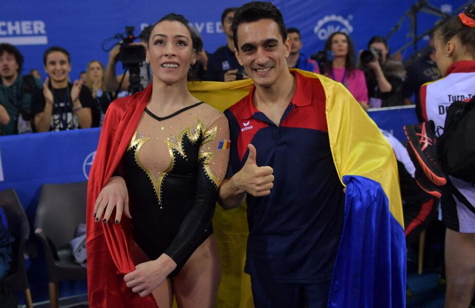 Cătălina Ponor și Marian Drăgulescu, cei doi campioni europeni ai României de la Cluj // FOTO Raed Krishan