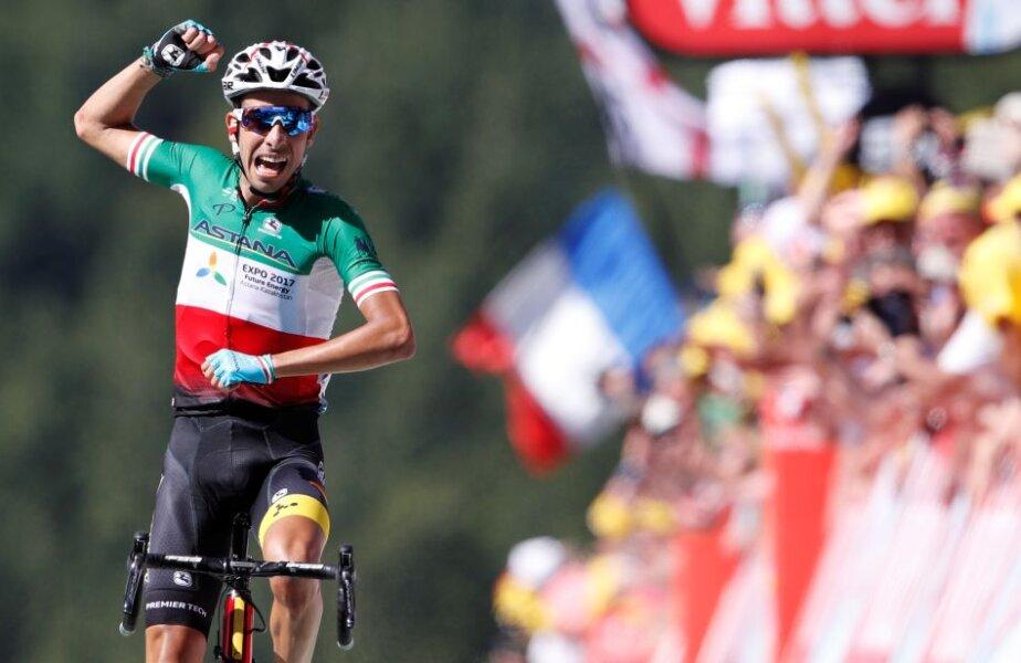 Fabio Aru obține prima sa victorie de etapă în Turul Franței, foto: reuters