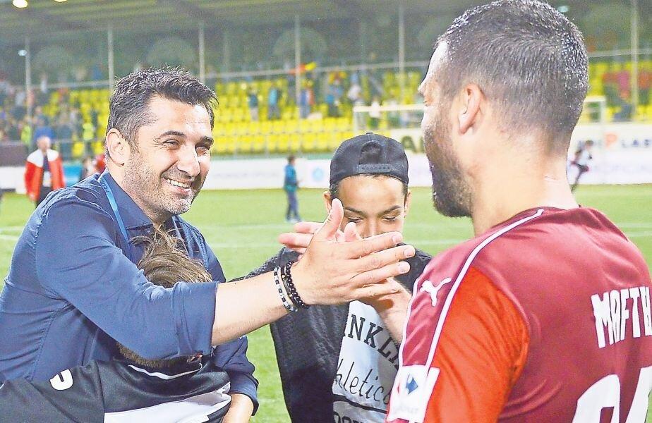 Niculescu și Maftei au o relaţie excelentă de prietenie, în afară de cea antrenor - jucător (foto: Raed Krishan)