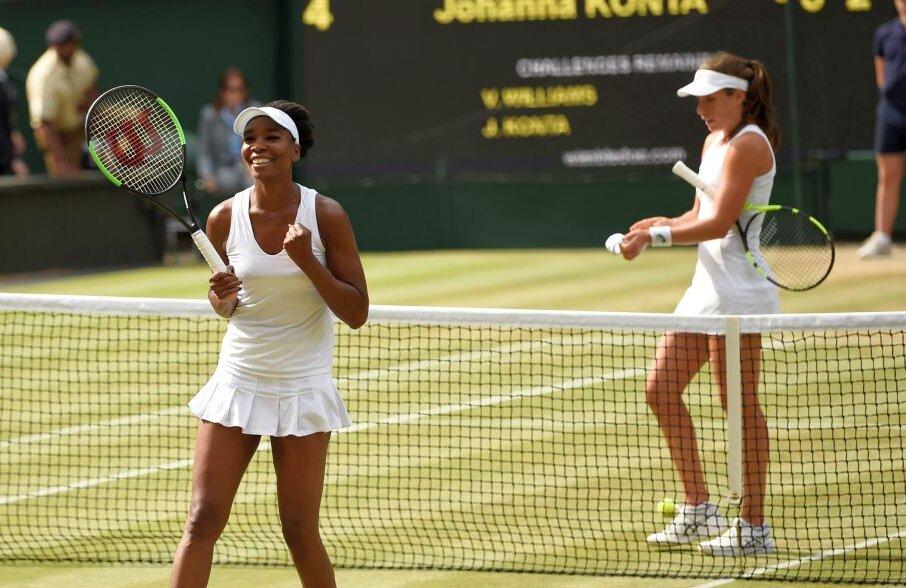 Venus Williams a bătut-o pe Johanna Konta și va evolua în finala de la Wimbledon contra Garbinei Muguruza  // Foto: Reuters