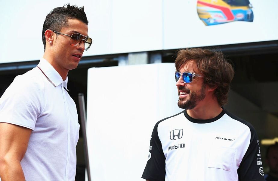 Fernando Alonso și Cristiano Ronaldo la MP al statului Monaco 2015 Foto: Guliver/Getty Images